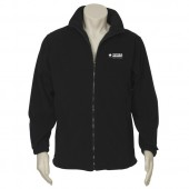 Mens Plain Micro Fleece Jacket (Black) with logo