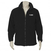 Mens Plain Micro Fleece Jacket (Black) with logo