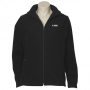 Ladies Plain Micro Fleece Jacket (Black) with logo