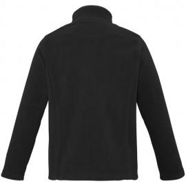 Ladies Plain Micro Fleece Jacket (Black) with logo
