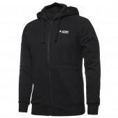 Unisex Full Zip Fleecy Hoodie (Black) with logo
