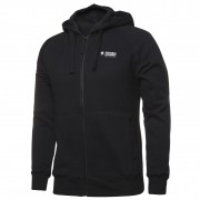 Ladies Full Zip Fleecy Hoddie (Black) with logo