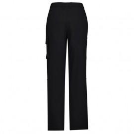 Ladies Comfort Waist Cargo Pant (Black) with logo
