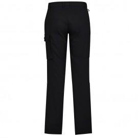 Mens Comfort Waist Cargo Pant (Black) with logo