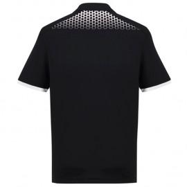 Mens Galaxy Polo (Black/White) with logo