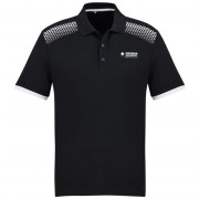 Mens Galaxy Polo (Black/White) with logo